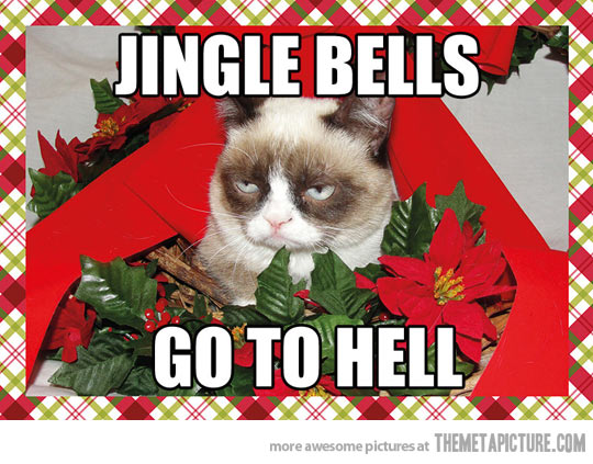 Jingle Bells Go To Hell Funny Christmas Image