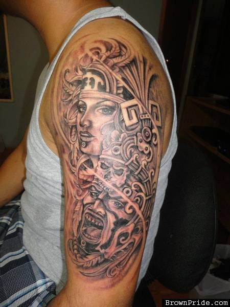 15 aztec tattoo designs and images for Aztec tattoos sleeve