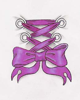purple corset bow tattoo design by terabyte. Black Bedroom Furniture Sets. Home Design Ideas