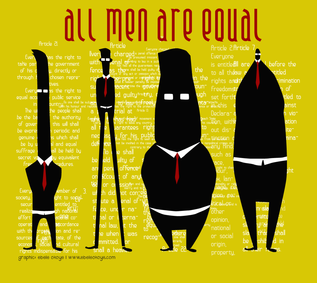 """we are all equal before the Spanish translation of """"we are all equal before or in the eyes of god"""" 