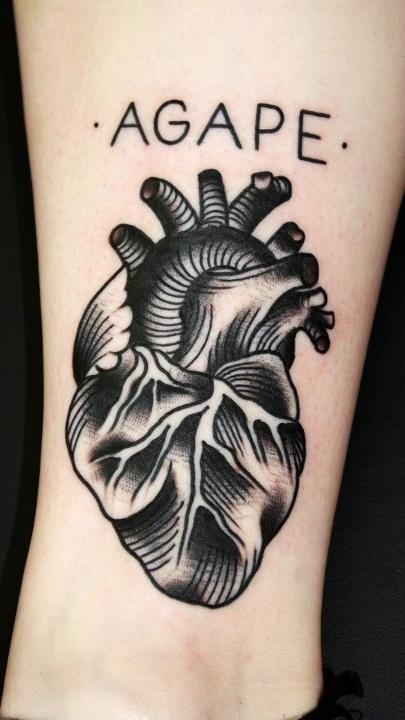 5 amazing real human heart tattoos. Black Bedroom Furniture Sets. Home Design Ideas