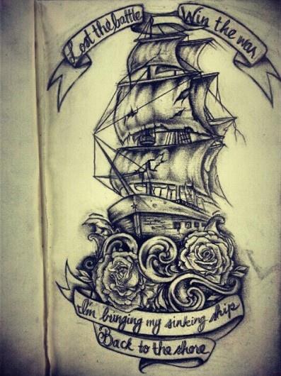 Vintage Sailboat Sketch 8 Latest Nautical Tatt...