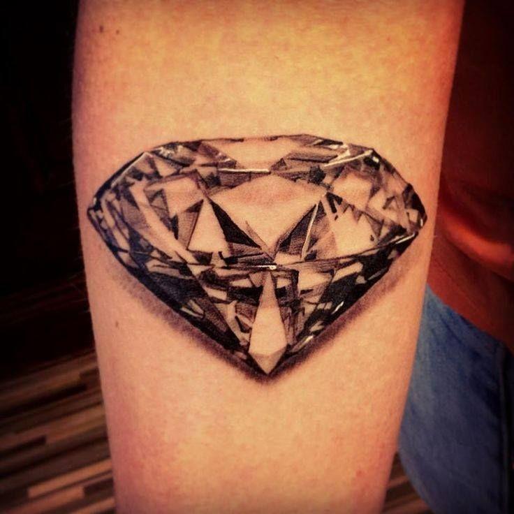 Amazing Realistic 3D Diamond Tattoo Design
