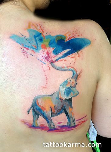 25 Amazing Watercolor Tattoos: Celtic Fenrir Wolf Tattoo On Right Back Shoulder