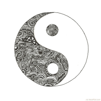 amazing yin yang symbol tattoo stencil. Black Bedroom Furniture Sets. Home Design Ideas