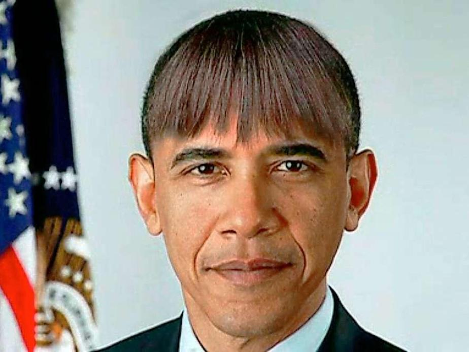 Barack Obama Funny Haircut