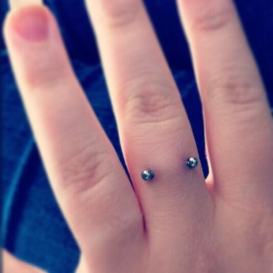 12 Finger Piercing Images And Pictures For Girls