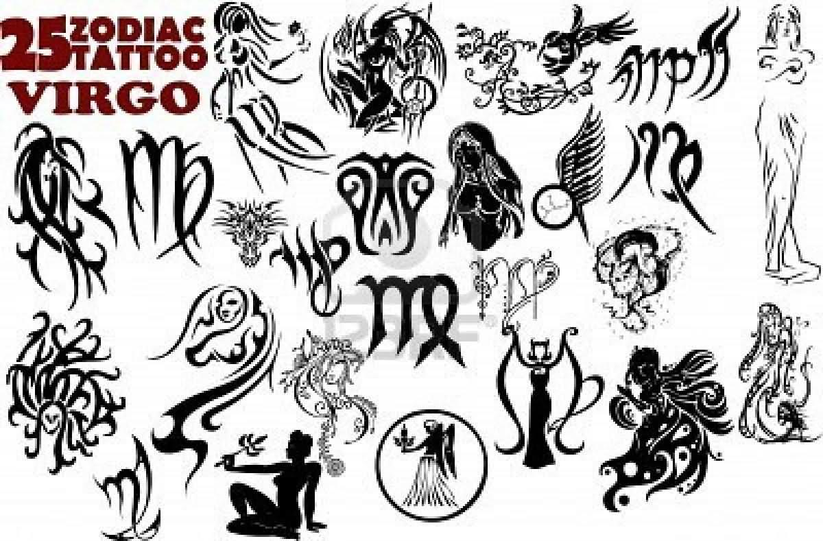 13 latest zodiac tattoo designs gallery black 25 zodiac virgo tattoo flash biocorpaavc Gallery