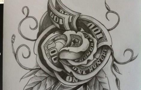 8bcdd070b 18 Unique Money Tattoo Design Ideas And Images