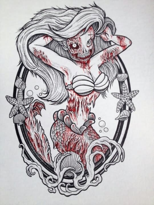 3 zombie tattoo designs ideas
