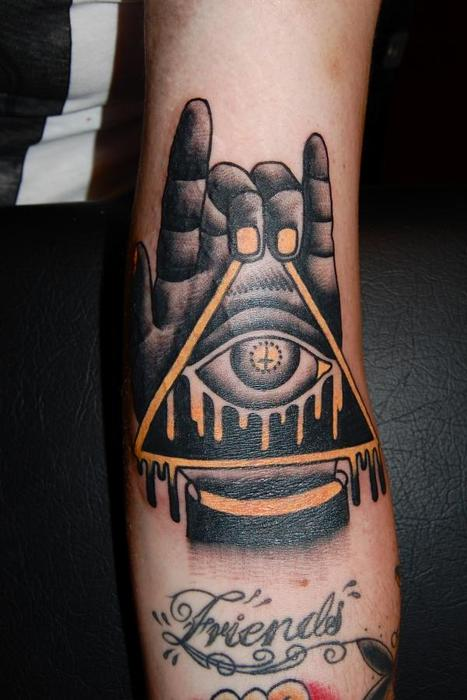 22 illuminati eye tattoo pictures images and designs for Eye finger tattoo