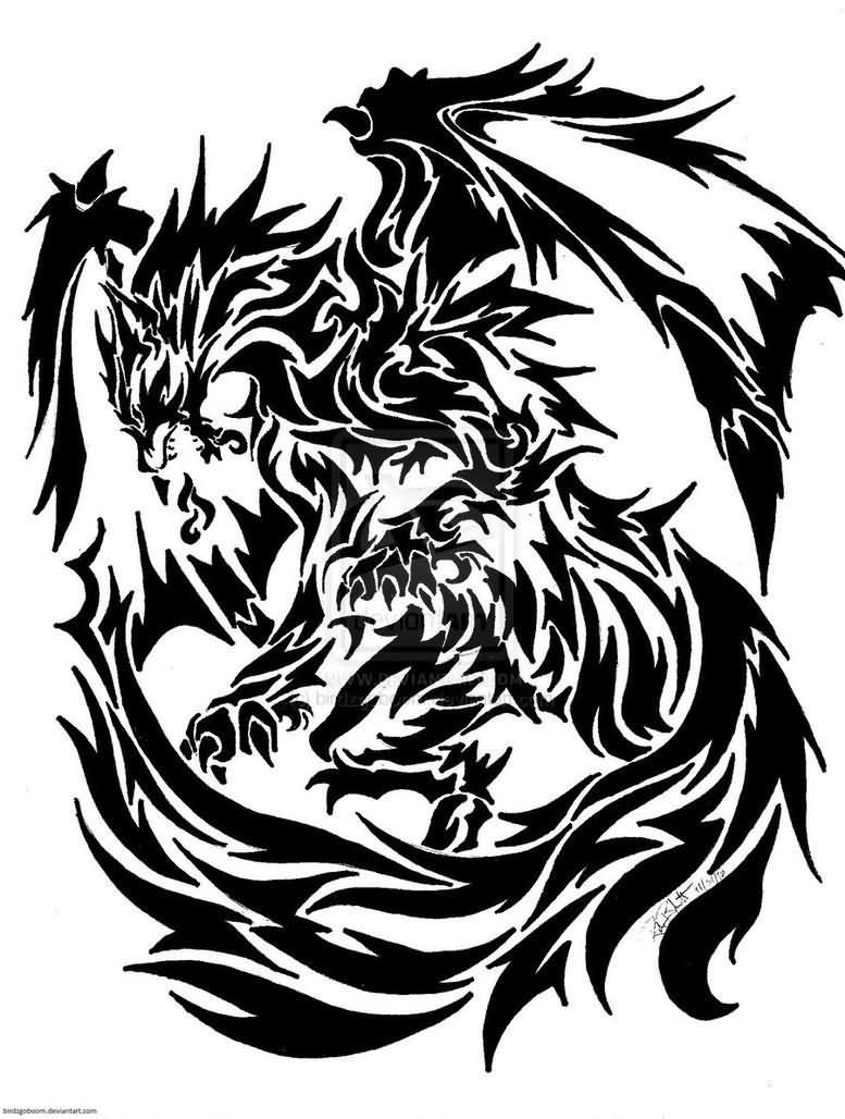 Celtic Dragon Stencil Designs 12 Tattoo Ideas And