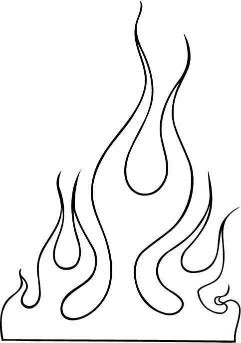 3 simple tribal flame tattoo designs and ideas for Black and white flame tattoo