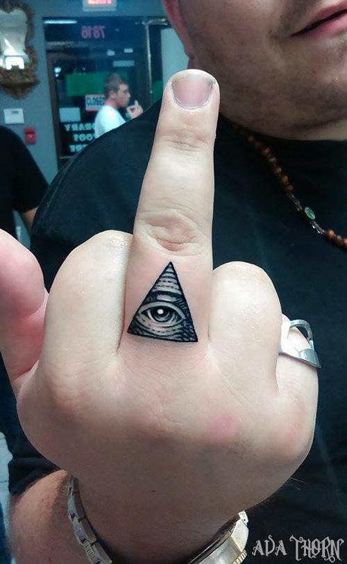 Eye Tattoo On Finger