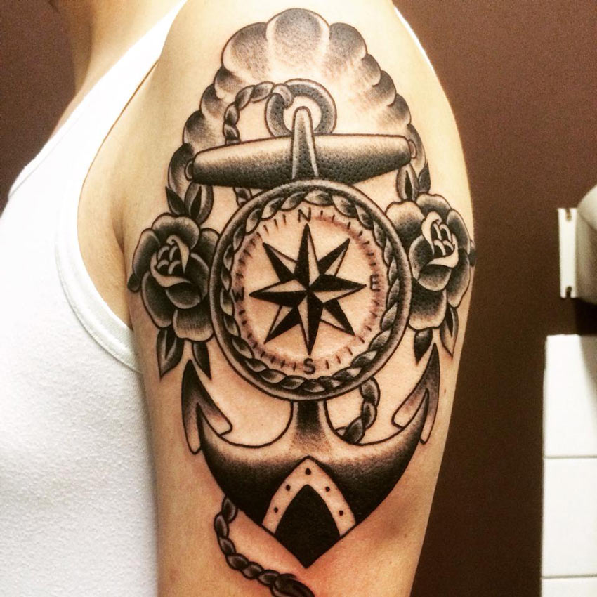 Tattoo Ideas Nautical: Nautical Realistic Trash Polka Tattoo By Buena Vista