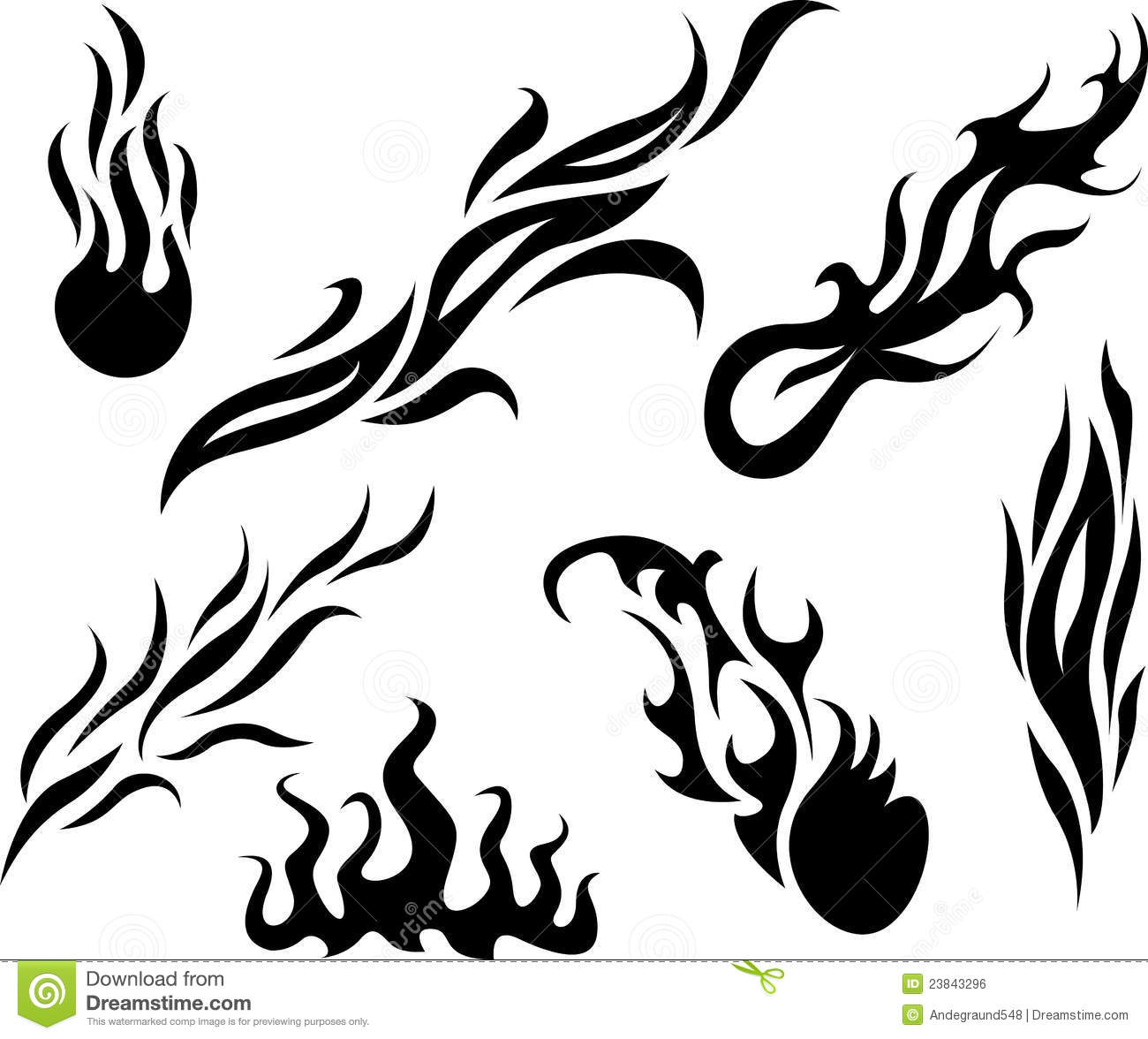 3 simple tribal flame tattoo designs and ideas. Black Bedroom Furniture Sets. Home Design Ideas