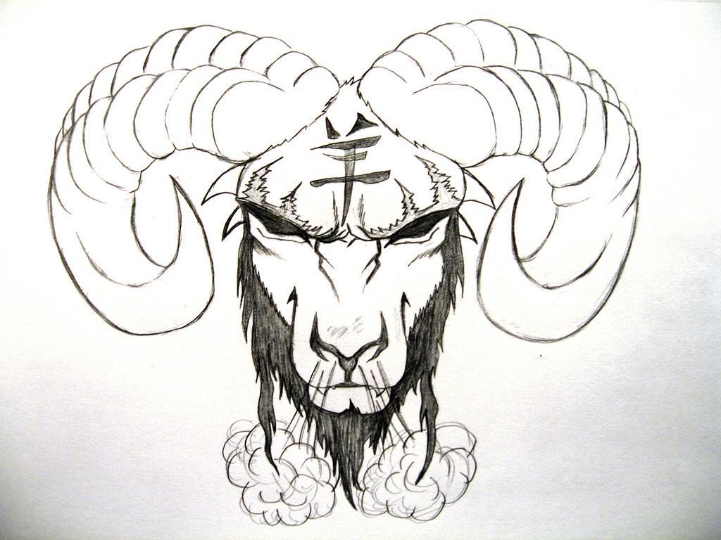 Tattoo designs tribal aries zodiac sign tattoos golfian com - Black Zodiac Aries Tattoo Design