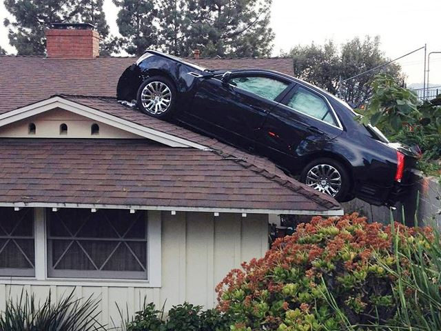 Car Accident With Nike Ball Funny Picture