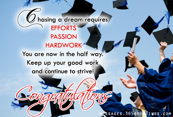 30 wonderful congratulations on graduation wishes pictures chasing a dream requires efforts passion hardwork congratulations on graduation m4hsunfo Images