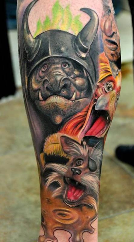 30 graffiti tattoo images pictures and designs ideas for Graffiti tattoos sleeves