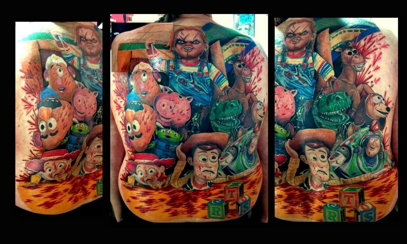 Story Sleeve Tattoo: 20+ Best Chucky Tattoo Images And Designs