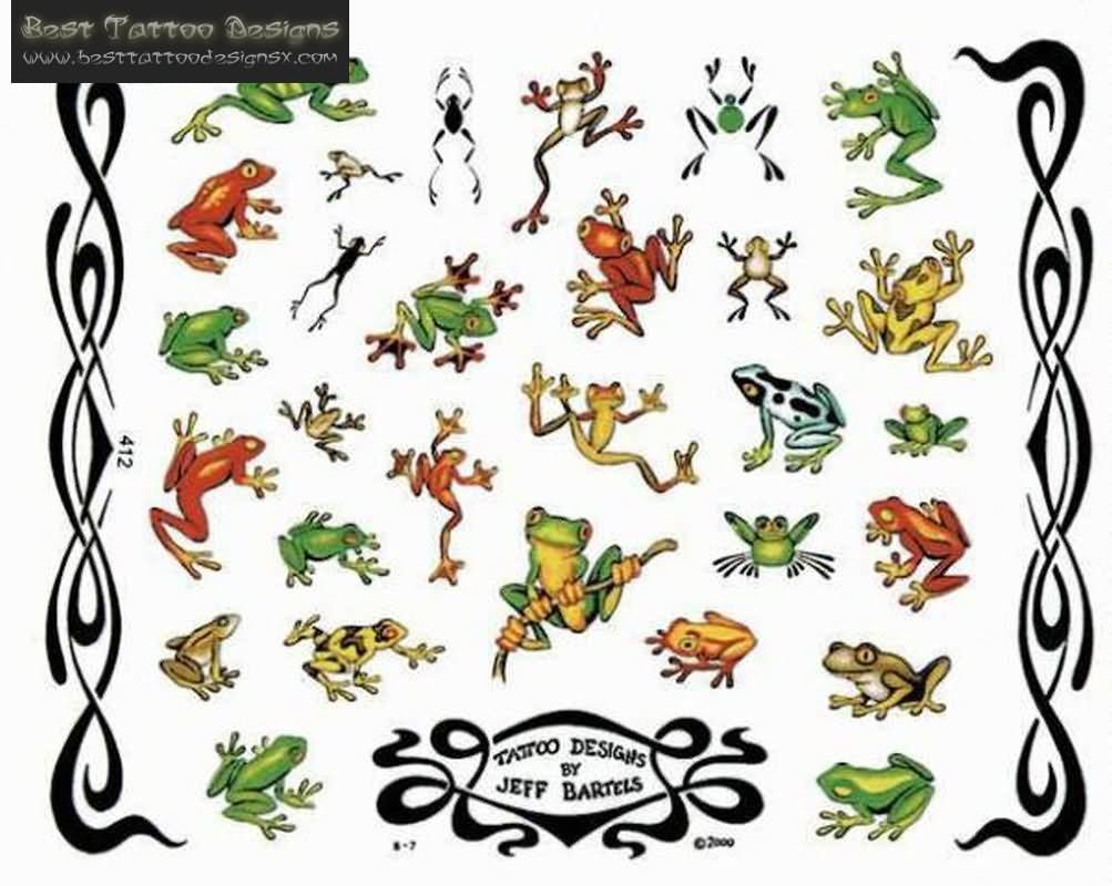8 frog designs and ideas