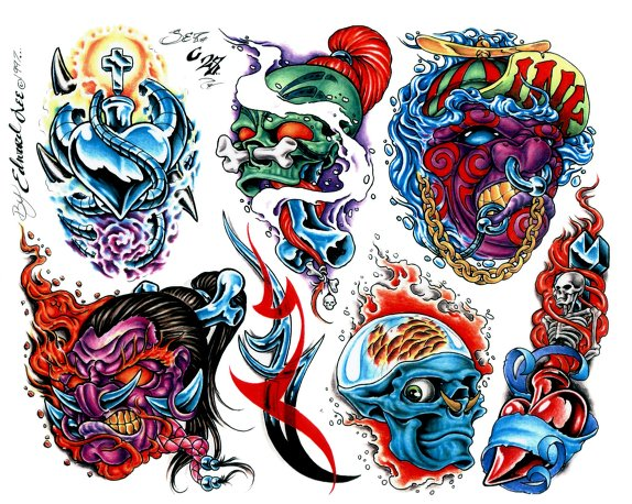 7 monster tattoo designs and ideas for Monster tattoo designs