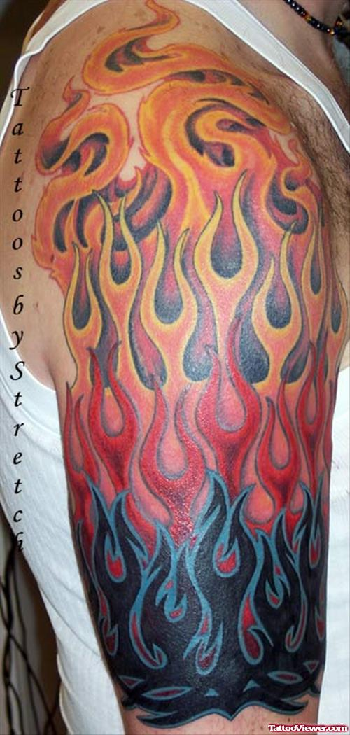 18 wonderful fire tattoo images designs and pictures. Black Bedroom Furniture Sets. Home Design Ideas