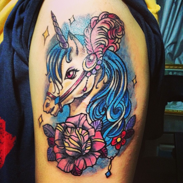 Tattoo Ideas Unicorn: 22 Wonderful Unicorn Tattoo Images And Pictures