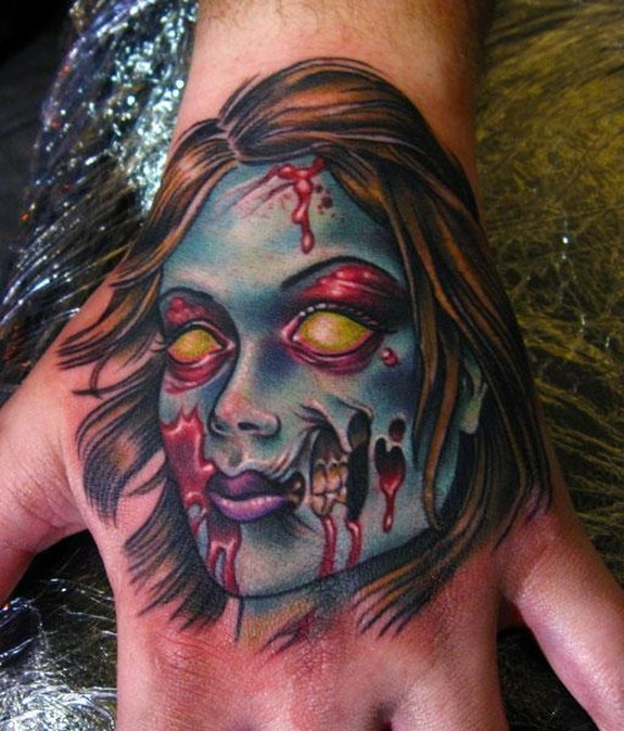 Pin Up Zombie Girl Tattoo Design For Arm By Joe Capobianco