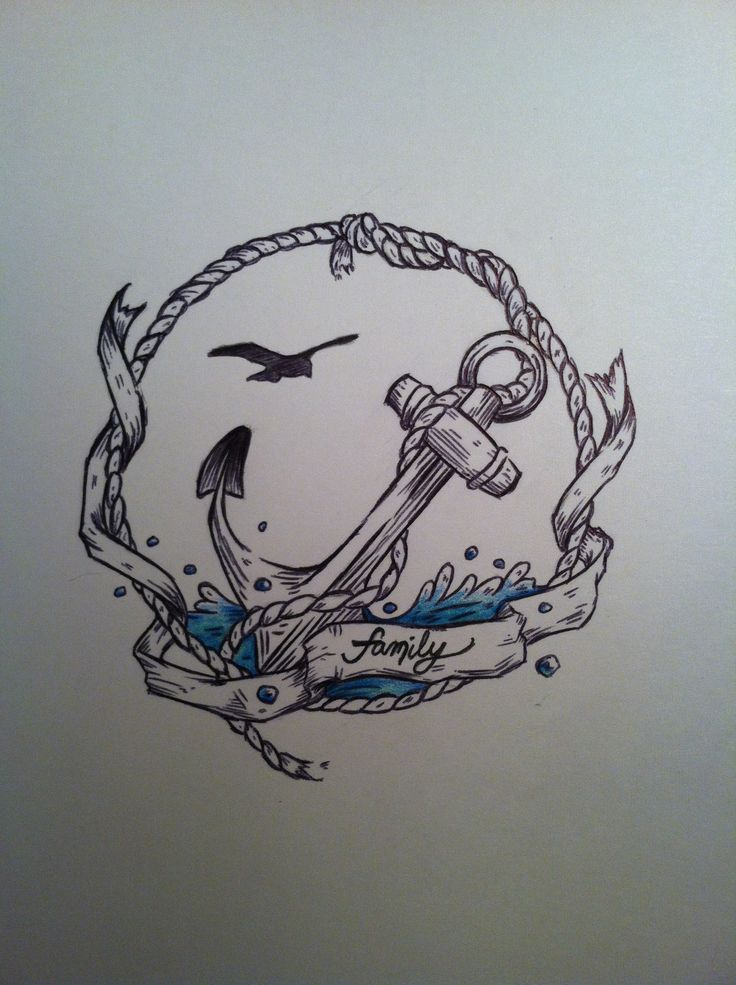 family banner and nautical anchor tattoo design nautical design ideas - Nautical Design Ideas