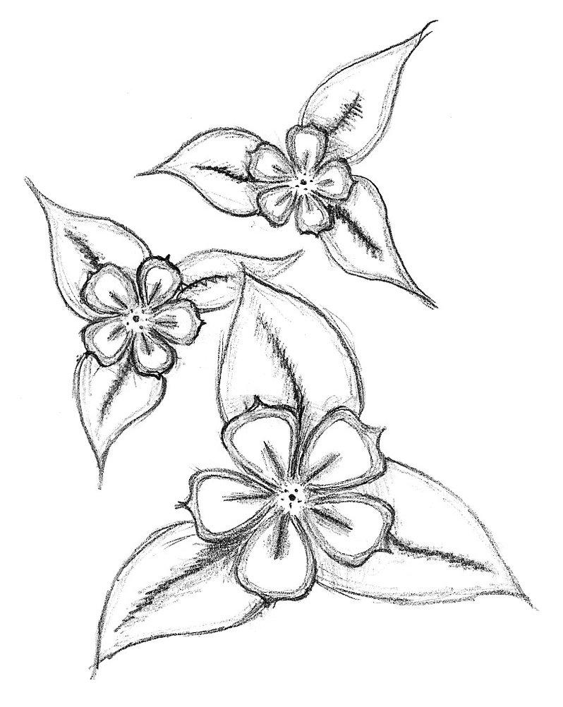 Flower tattoo designs askideas flowers tattoo stencil by balloon fiasco izmirmasajfo Images