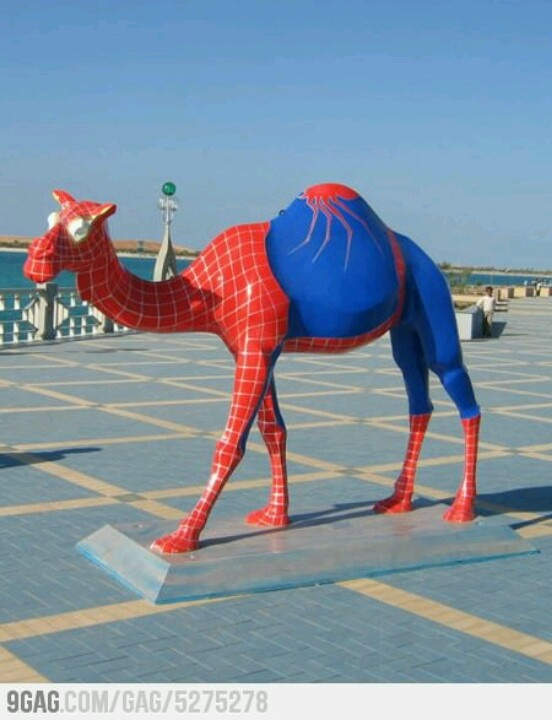Funny Camel In Spiderman Dress