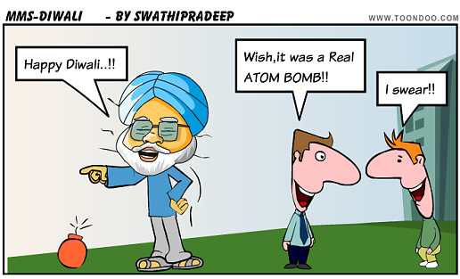 This diwali employees get tweets instead sweets funny image funny diwali cartoon image m4hsunfo