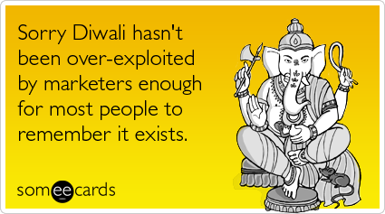 Funny Diwali Quote Image