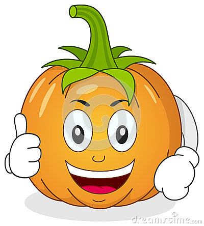 Funny pumpkin cartoon smiling with thumb thecheapjerseys Choice Image