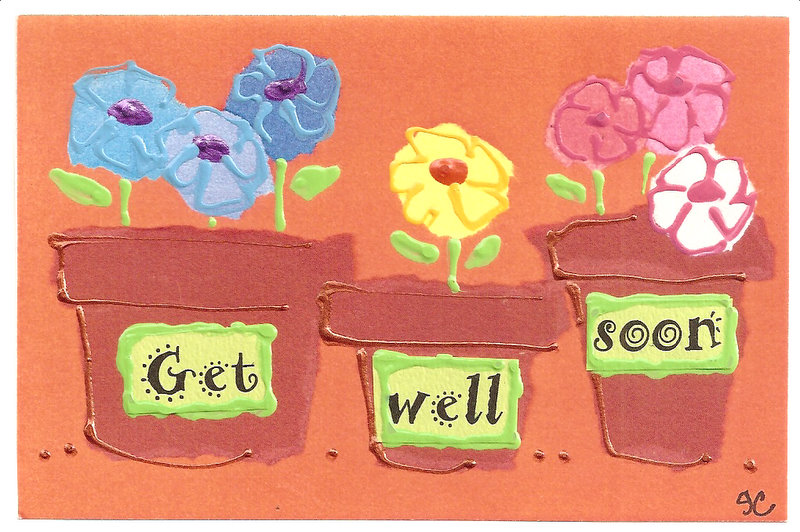 48 best get well soon greeting cards get well soon flower pots greeting ecard m4hsunfo Choice Image
