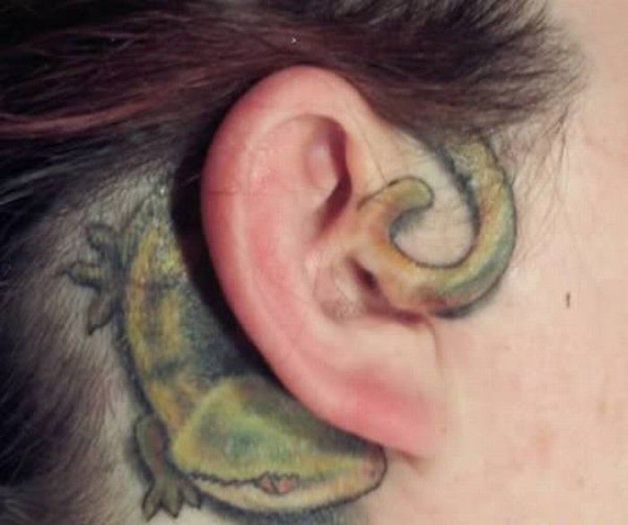 33 Stunning Behind The Ear Tattoos: 31 Unique Ear Tattoos Design And Ideas