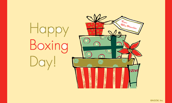 Happy Boxing Day Gifts Clipart