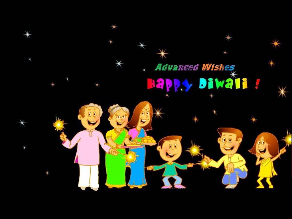 Happy Diwali Advanced Wishes Funny Animated Family Picture