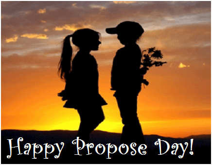 10 best propose day glitter pictures - Boy propose girl with rose image ...