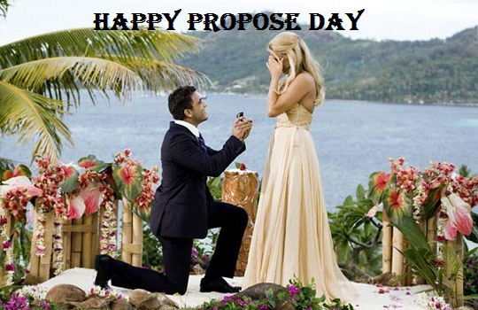 Happy Propose Day Boy Proposing Girl Picture