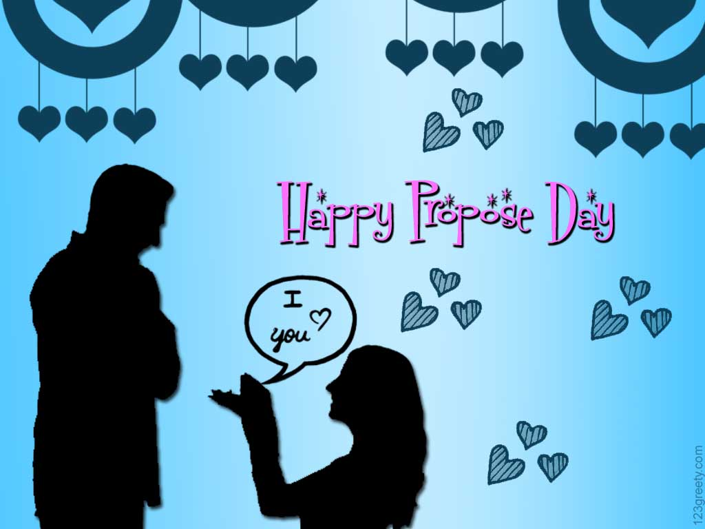 Happy Propose Day Girl Proposing Boy