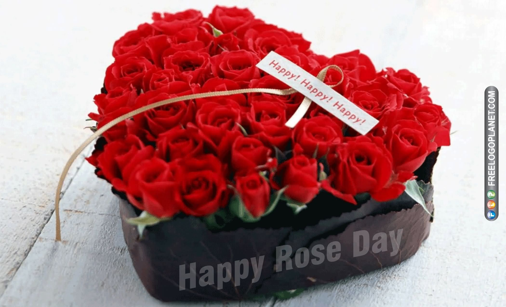 Happy Rose Day Heart Roses Picture