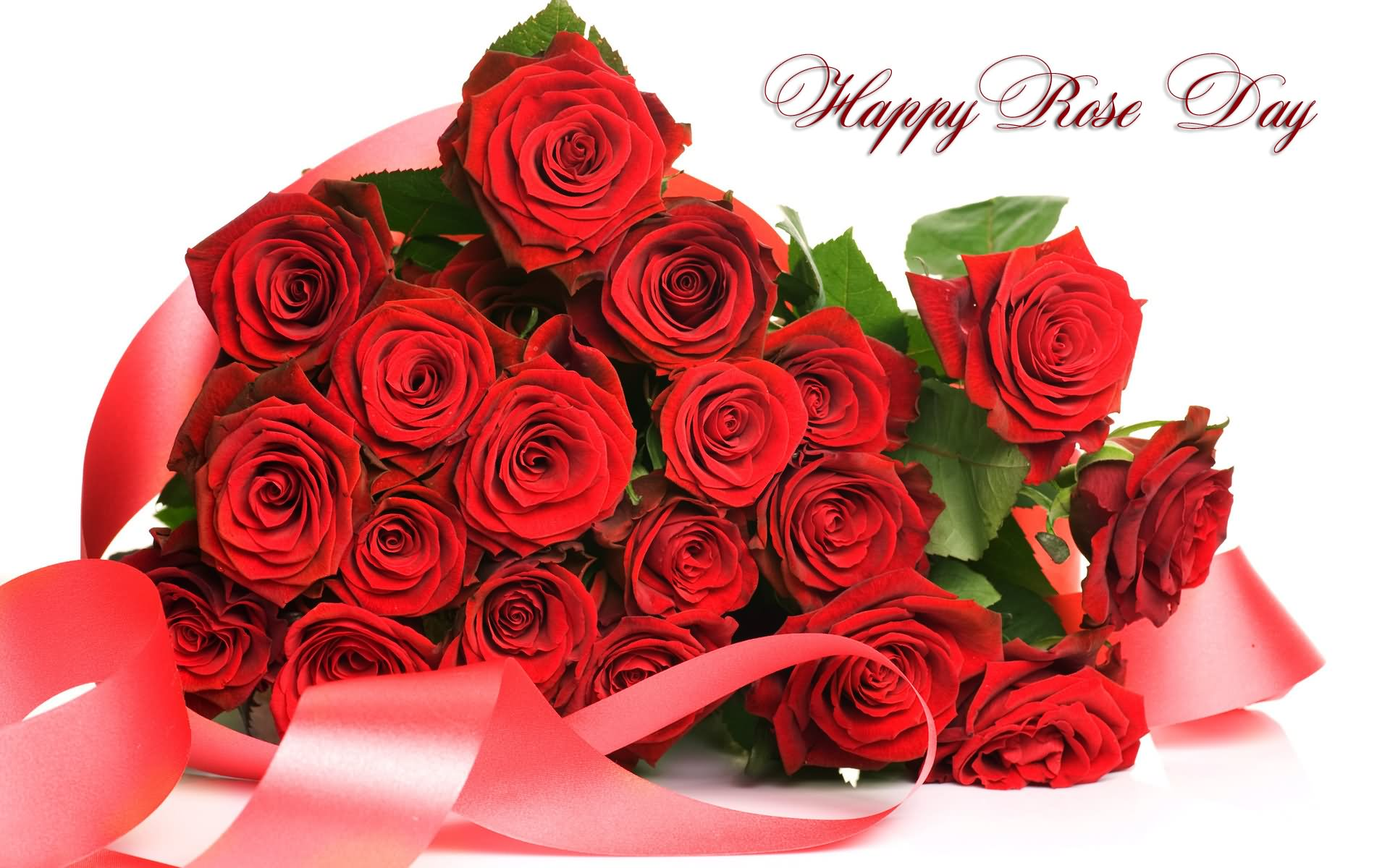 Happy Rose Day Roses Bouquet