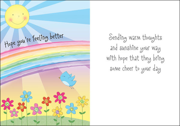 hope youre feeling better greeting card - Get Well Greeting Cards