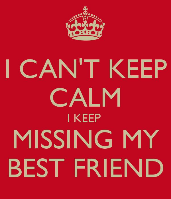 I Cant Keep Calm Missing My Best Friend