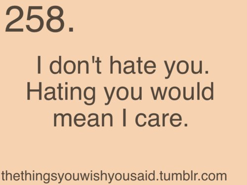 I Dont Hate You Hating You Would Mean I Care