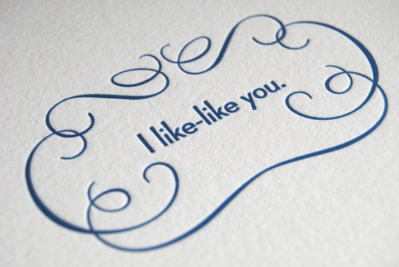 /'I like you/' match card