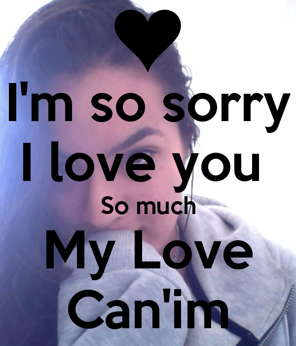 I Am Sorry I Love You Lyrics